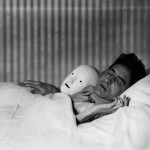 1927-Cocteau in Bed with Mask- Paris